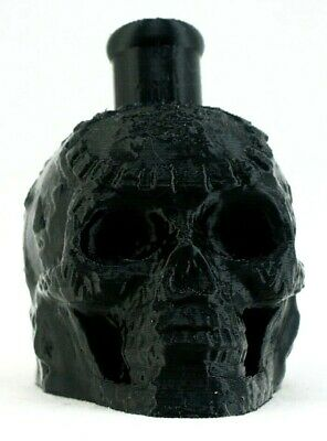 Mayan / Aztec Death Whistle Skull Onyx Black High Quality 3D Printed In Usa
