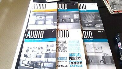 1963 Audio Magazines, Complete Year, 12 Issues with Marantz & McIntosh Tube gear