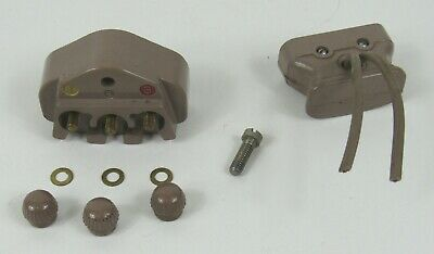 Singer Featherweight 221 Sewing Machine Beige Male Female 3 Prong Plug Terminal