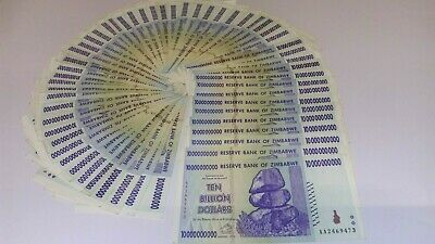 Zimbabwe 10 Billion Dollars ($10000000000) Banknotes Lightly Circulated
