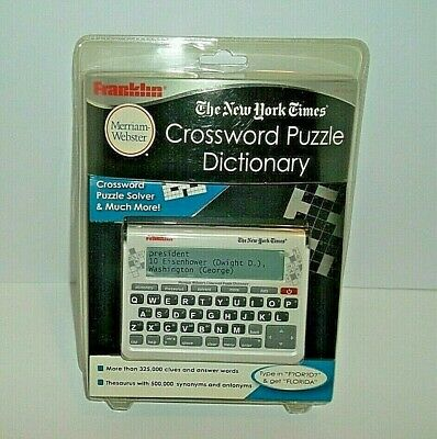 Franklin The New York Times Websters Crossword Puzzle Dictionary NYT-570CWD Rare