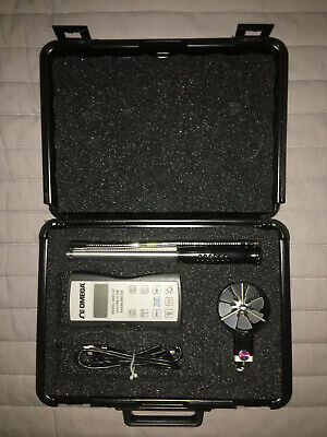 Omega Engineering HHF142 Hand Held Rotating Anemometer with Probe