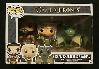 #1.2 GAME OF THRONES FUNKO POP FIGURES Khal Khaleese & Rhaegal FREE SHIPPING