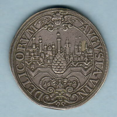 Germany - Augsburg. 1642 City View Thaler.. Ferdinand 111..  gVF