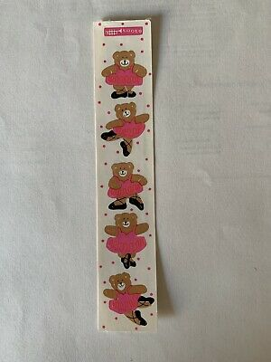 Rare Vintage Stickers - Cardesign -Toots ballerina Bears Dated 1983