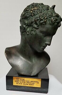 antique bronze bust.1900-1950