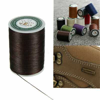 0.8mm 90m Waxed Thread Polyester Cord Sewing Machine Stitching For Leather Craft