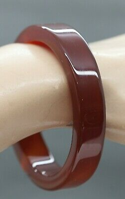 Lovely Vintage Chinese Brown Jade Stone Bangle