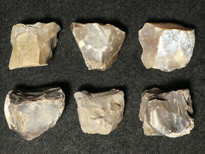 7200Y.O: GREAT 6x CORE  STONE AGE NEOLITHIC EUROPE LINEAR POTTERY CULTURE FLINT