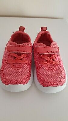 baby girls coral clarks shoes trainers size 4.5f