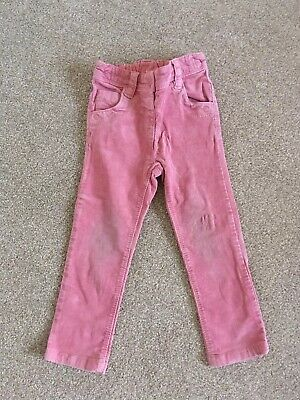 Pink NEXT Corduroy Toddler Kids Trousers Size 2-3 Years