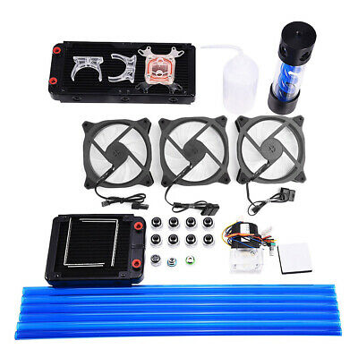 DIY PC Liquid Water Cooling Kit 240mm Radiator Pump Reservoir CPU Block Heatsink