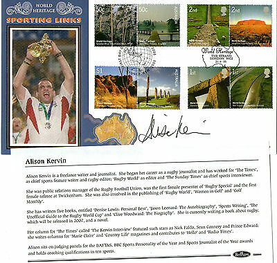 2005 World Heritage Sites Hand Signed Alison Kervin Benham First Day Cover Shs