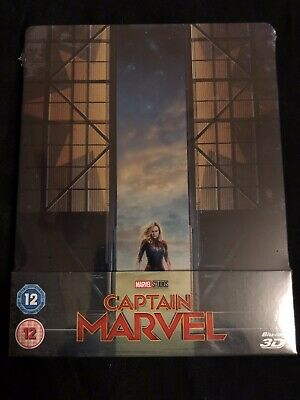 Captain Marvel / 2 Disc Blu-ray Steelbook 2019 (Cert 12) Region ABC New & Sealed