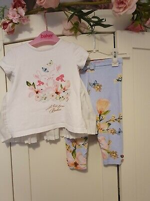 Ted baker baby girls 9-12 months outfit top and leggings
