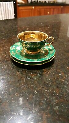 Bareuther bavaria made in germany demitasse emerald green tea cup