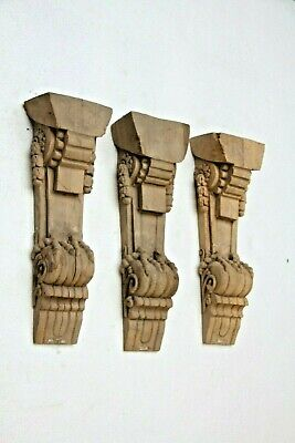 Beautiful Genuine Hand Carved Wooden Gothic Fancy French Style Bracket Carvings