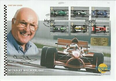 3 July 2007 Grand Prix Hand Signed By Tv Commentator Murray Walker Shs