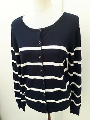 Ladies Primark Basic Button Up Thin Cardigan Womens Simple Work Casual