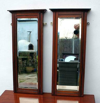 Pair of Edwardian Mahogany Pier mirrors