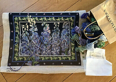 PRIMAVERA tapestry Kit DELPHINIUMS julia A'Court Part Worked