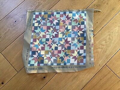VINTAGE ehrman 1989 FRESCO star Worked Tapestry CUSHION Cover