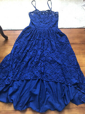 Girls Monsoon Occassiinal Dress Age 14 Blue Exc Cond Worn Once