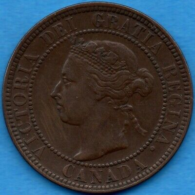 Canada 1901 1 Cent One Large Cent Coin - EF (thin scratches)