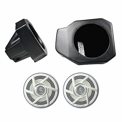 SSV Works US2-C65//200A Universal Cage Mount Pods Pair with 2 Clamps Loaded 6.5 Speakers