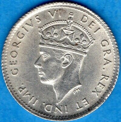 Canada Newfoundland 1941 c 5 Cents Five Cent Small Silver Coin - AU/UNC