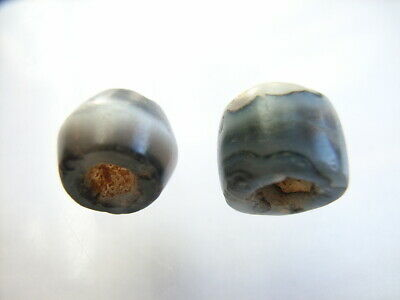 2 Ancient Roman Agate Beads, Romans VERY RARE!  TOP !!