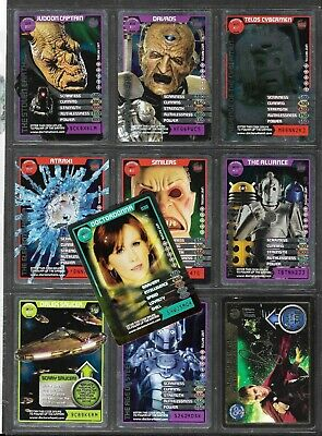 Lot Of 10 - Doctor Who Monster Invasion - Rare Foil Cards - Inc Rory Auto Card
