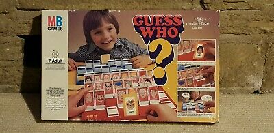 Guess Who Vintage Game MB Games 1979 Christmas Family Retro