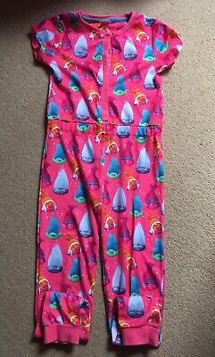 "Girls, Dreamworks ""Trolls"" Print, Short Sleeved, Sleepsuit. Age 8-9years"