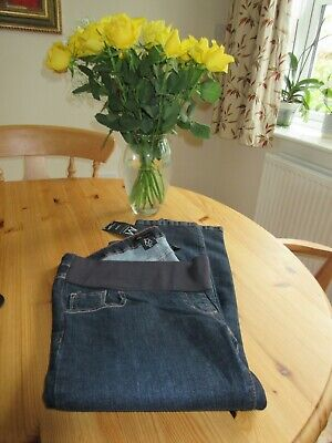 Next Maternity Blue Denim Crop under bump Maternity Jeans size 12 Long BNWT £30