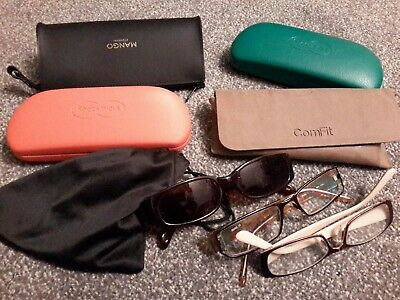 Selection Of Reading And Other Glasses And Cases sun shades etc