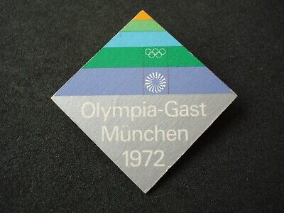 1972 Munich Olympic Games, guest, visitor official badge, pin, Germany