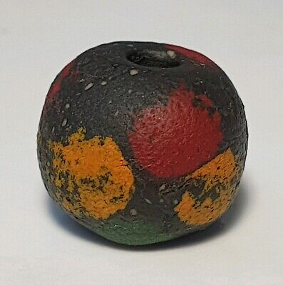 12.7mm ANCIENT RARE ROMAN OR EARLY ISLAMIC GLASS BEAD