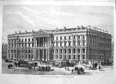 Old Antique Print 1870 Buildings General Post Office Martin'S-Le-Grand 19th