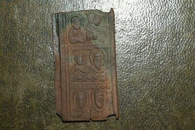 Byzantine/Medieval Bronze Plaque Depicting saints