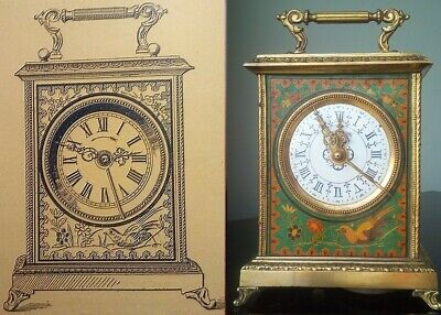 Antique carriage clock Japy Freres 1902-03