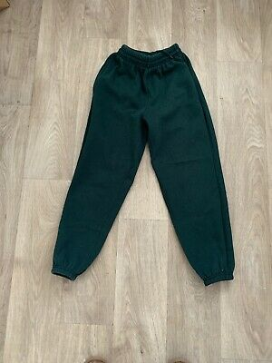 Girls Green Tracksuit Bottoms 9-10 Years