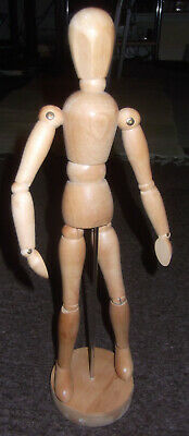 Classic, Hand Made Fully Articulated Wooden Artist's Human Model - Drawing Aid