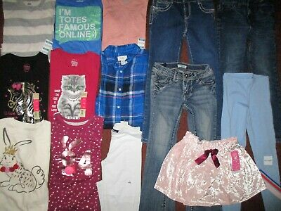 Girls HUGE!! Size 6 6X 7 Winter & School  Name Brand Clothing Lot  NEW