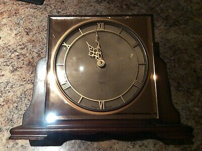 LOVELY 8 Day SMITHS PEACH MIRROR GLASS  MANTLE CLOCK. Not Working