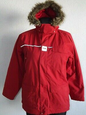 Helly Hansen girls long sleeve red warm jacket with hoody size12 years 152 cm