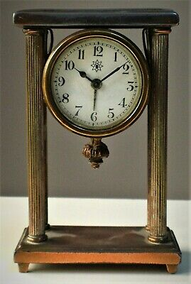 Antique JUNGHANS 1875-1900 Brass Victorian Mantel Bracket Carriage Clock