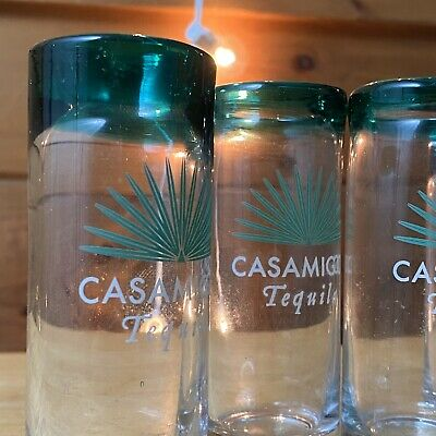 SET OF 4 Brand New Casamigos Tall Tequila Shot Glasses George Clooney Randy