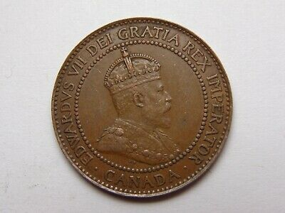 1909 Canada Edward Vii Bronze Large Cent Xf Very Nice! Must See!!