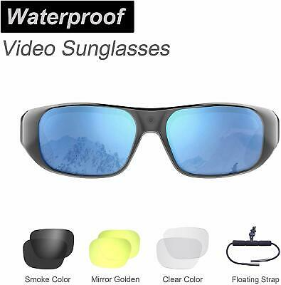 Waterproof Video Sunglasses, 64GB Ultra 1080P HD Outdoor Sports Action Camera